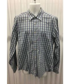 Vineyard Vines Button Down Collegiate Shirt Size Large multi color irish green, skyblue
