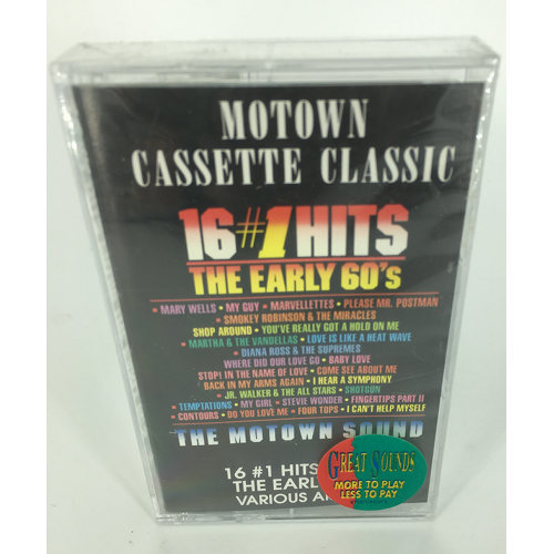 Motown Sounds Cassette Classics 16 #1 Hits From The Early 1960's 737463524841