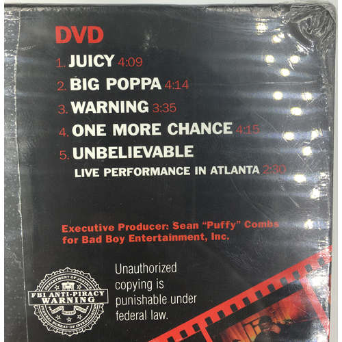The Notorious B.I.G. Ready to Die The Remaster CD & DVD 2006, Bad Boy dvd 0075679456724