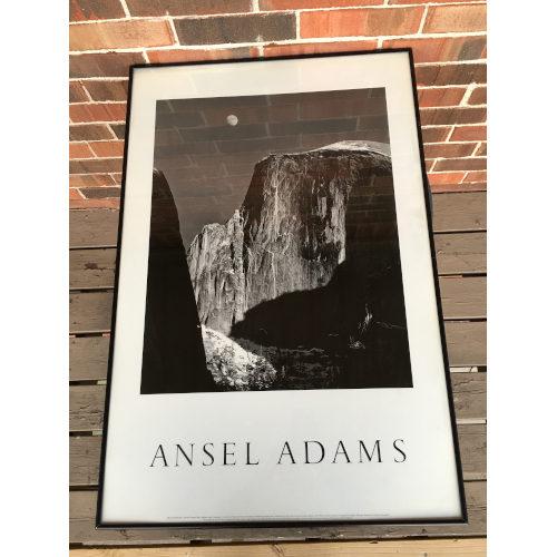 Ansel Adams Moon And Half Dome Yosemite National Park, 1960 Lithograph