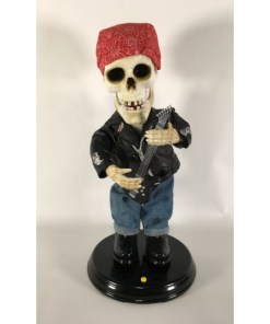 Gemmy Dancing Skeleton Halloween Guitar Biker Singing Dancing ZZ Top La Grange