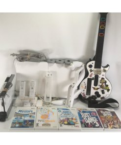 Nintendo Wii Bundle : RVL-001 White Guitar Hero