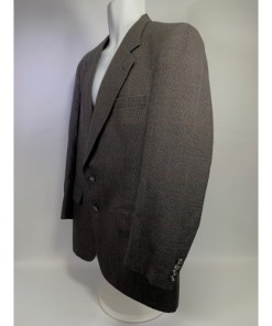 Burberry Men's Classic Brown  Wool Sport Coat Blazer Jacket