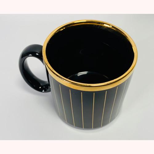 Caterpillar CAT Heavy Machinery Mug Black Gold Made in England