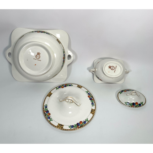 John Maddock & Sons England Royal Vitreous Vegetable Dish & Tureen Casserole Bowls