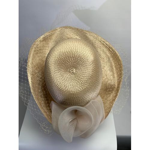 Ladies Church Bow Netting Veil Hat