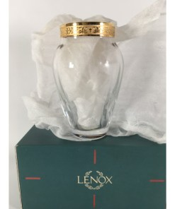 Lenox Autumn Bud Vase (Wide Gold Band)