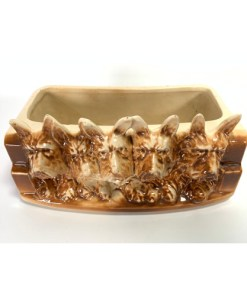 Vintage  McCoy Pottery Five Scottie Dogs Planter