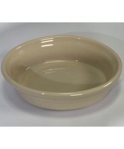 Roseville Pottery Cream Spongeware, Oval Bowl