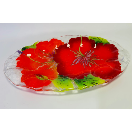 Art Glass platter dish display plate