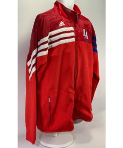 Adidas NBA LA Clippers Red Full Zip Jacket