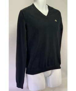 LACOSTE Cotton Jersey V-Neck Sweater RN 87651