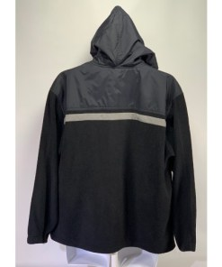 Vintage Quiksilver fleece Pullover Jacket reflective strip