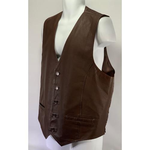 Wilson Genuine Brown Leather Vest Jacket XLT