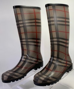 Burberry Nova Check Rubber Knee High Rain Boots