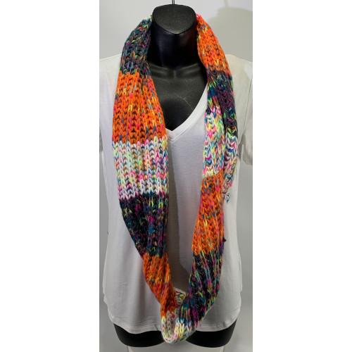 Renee's NYC Multicolor Knit Infinity Scarf Orange