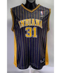 Reggie Miller Youth Indiana Pacers NBA Pinstripe Jersey #31