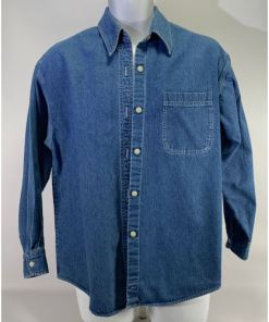 Vintage J Crew Men Denim Casual Shirt