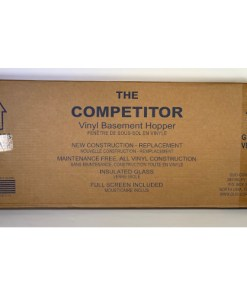 The Competitor Window Basement Vinyl Hopper with Screen
