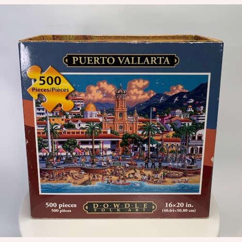 "Dowdle Folk Art500 Piece Puzzle ""Puerto Vallarta"" 671095009973"