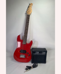 J Reynolds Electric Guitar Red Peavey GT5 Electric Guitar Combo Battery Power Practice Amp 4