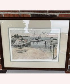 "Polly Chase ""PIER"" Original Colored Etching Paper Robert Sills Gallery Signed"