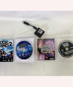 Sony Playstation 3 PS3 Guitar Hero Black Les Paul Gibson Wireless Guitar w strap -Bundle 014633191110