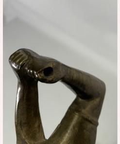 Bronze Swinging Golfer Figural Table Lamp