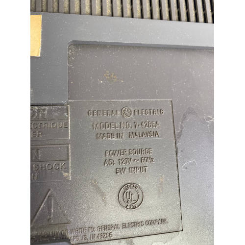 GE General Electric 7-4265A Under Cabinet Radio & Cassette Tape Space Saver