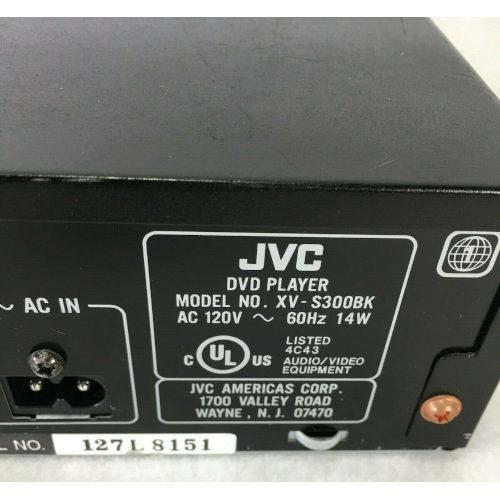 JVC XV-S300BK DVD Player, Black