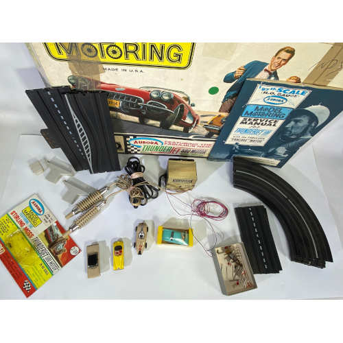 Rare Stirling Moss Aurora Model Motoring Thunder Jet 500 motor HO Cars Track Set slot