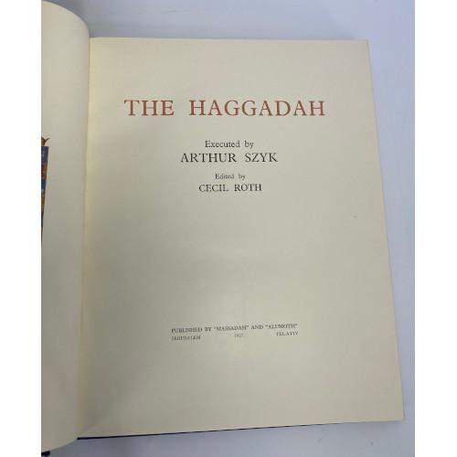 The Haggadah Arthur Szyk English Hebrew Velvet Hardcover