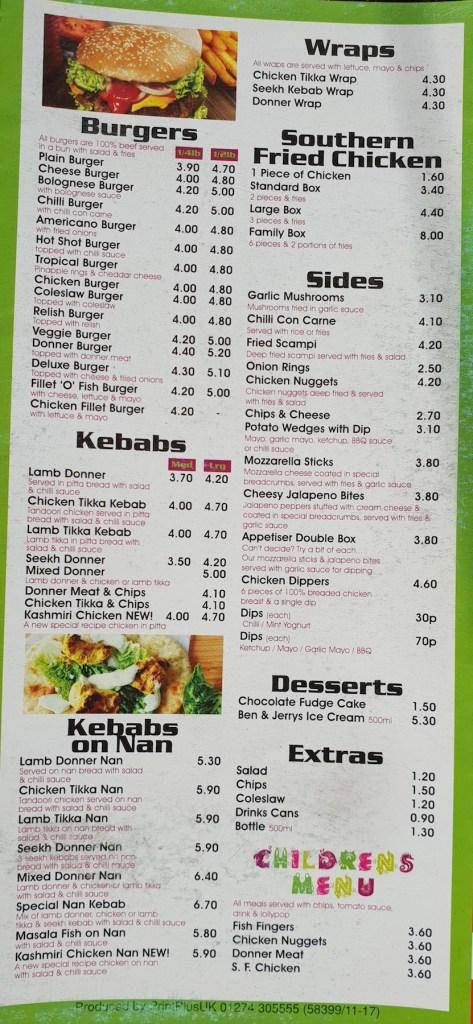 wraps burgers kebabs