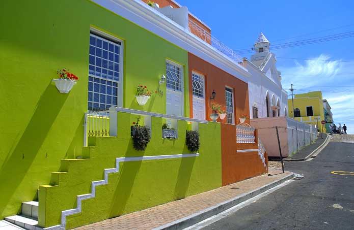 Bo Kaap Colorful Houses And Neighborhood Cape Town South