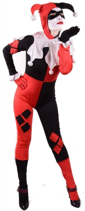 Women Sexy Clown Cosplay Bodysuit: $49