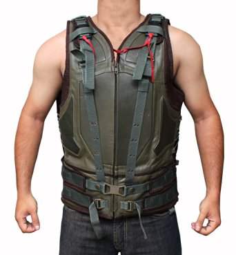 green-military-mens-leather-vest