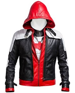 Batman Arkham Knight Red Hood leather JACKET