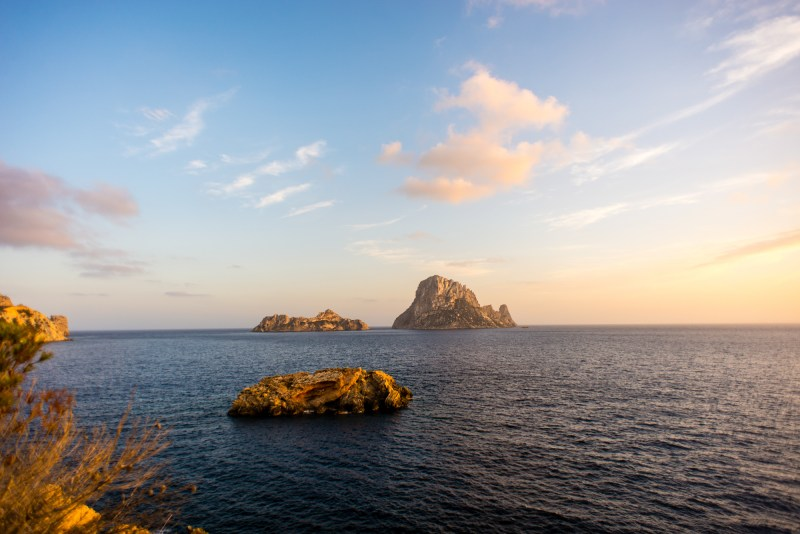 Sunset on Es Vedra in Ibiza by Godai Escapes, Slow Travel, Featured on ELSEWHERE