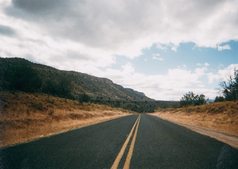 Open Desert Road to Zion National Park