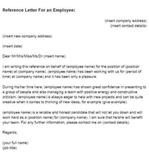 employer reference letter 5 employment reference letters find word letters 21496 | Employment Reference Letter 04