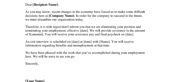 sample layoff letter find word letters