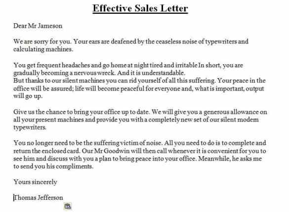 5 Sales Letter Examples Find Word Letters