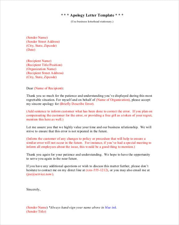 Sample ...  How To Write Apology Letter To Customer