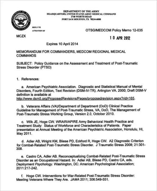 Army Memorandum Template 4.
