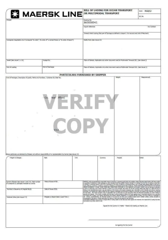 Bill Of Lading Template 3.