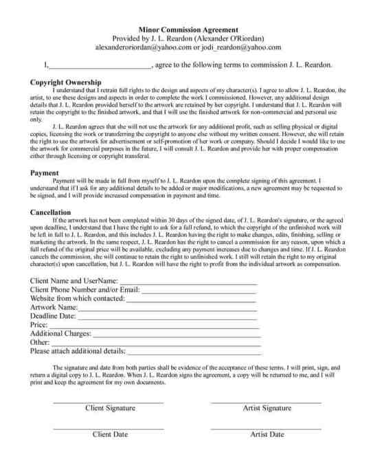 Commission Agreement Templates  Find Word Templates