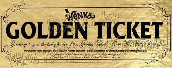 Golden Ticket Template 8.