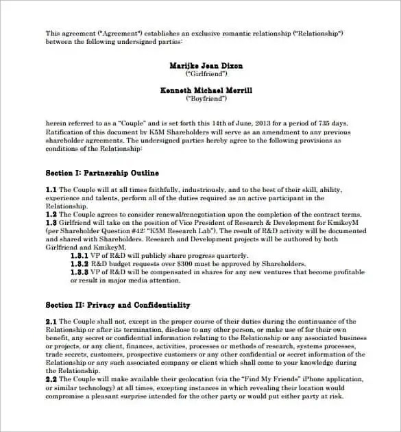 Relationship Contract Template 6.