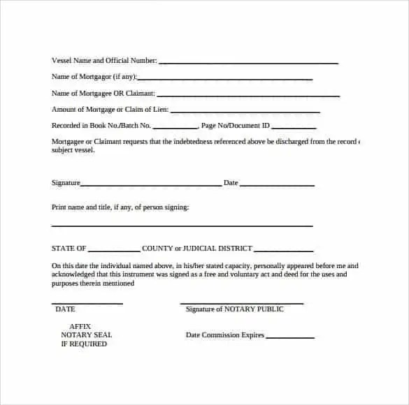 Satisfaction Of Mortgage Forms - Find Word Templates