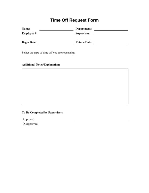 Time Off Request Form 2.